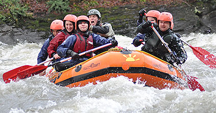 white water rafting photo of the river wye
